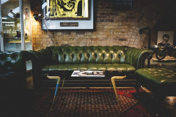 The Green Couch at The Bike Shed